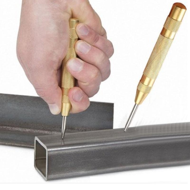 5 pollici Auto Center Pin Punch Spring Marking Fori di partenza Strumento per legno Press Center Punch Strumento per la lavorazione del legno