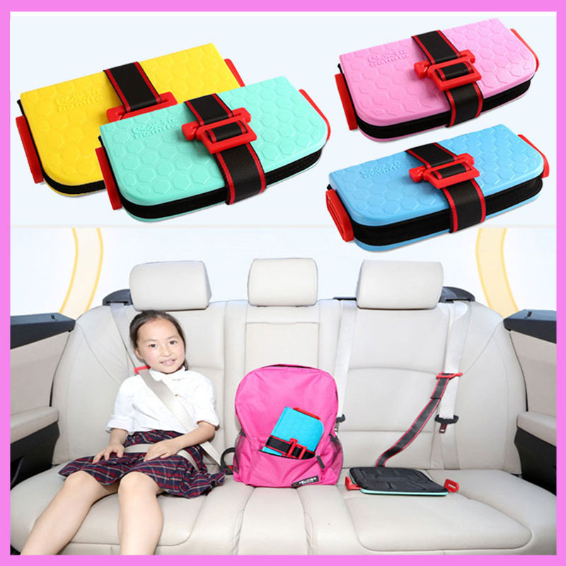 mini portable folding baby kids childrens poacket car safety seat booster cushion