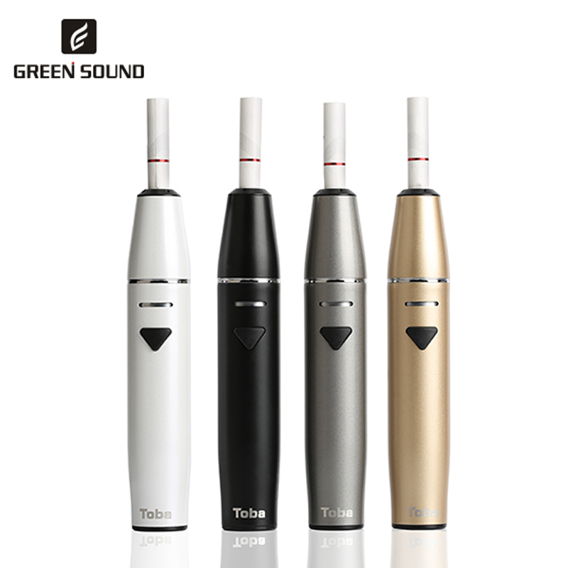 original GreenSound Toba vaporizer Built-in 1500mah battery Electronic cigarette heat no burning stick vape pen 2018 new heat not fire vape pen hitaste original quick 2 0 heat without burn electronic cigarette for iqos heets