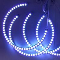 smd 5050 4Pcs RGB 5050 SMD 12V LED Angel Eyes Halo Rings Light for BMW E36 E38 E39 E46 (3)