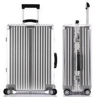 4サイズローリング荷物スーツケースチェック荷物アルミフレームpc荷物トラベルトロリースーツケース車輪