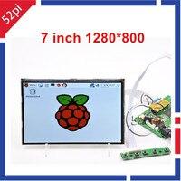 52Pi 7 inch 1280*800 IPS LCD Display Screen Monitor with HDMI+VGA+2AV LCD Driver Board For Raspberry Pi / PC Windows