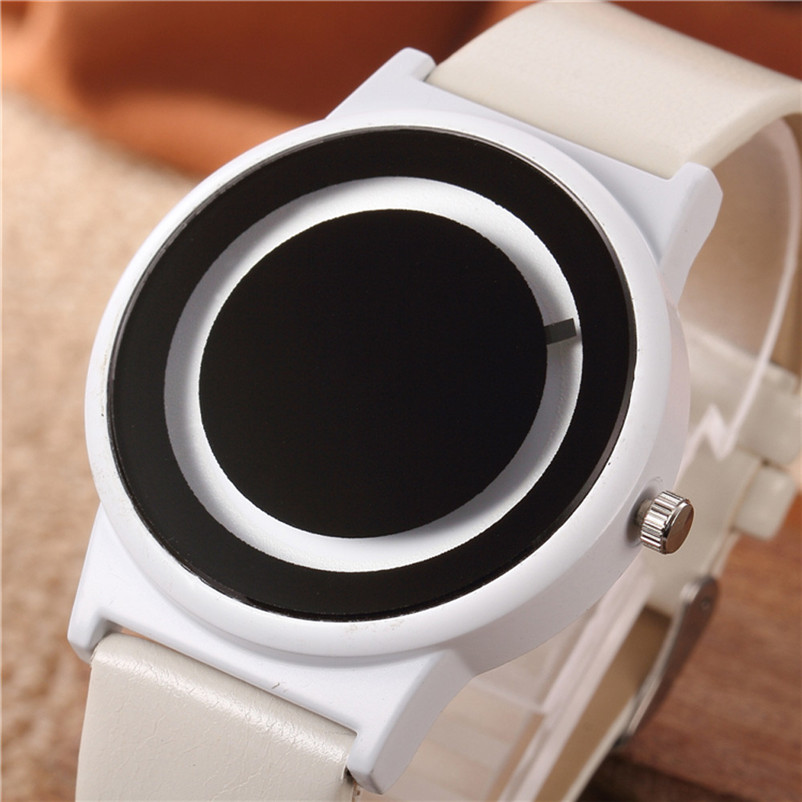 watches womens fashion mens watches top brand luxury Leather Band Quartz Vogue Watch Blck/white Sport Casual simple style Hot 2016fashion top luxury brand unique vogue mens quartz watches wooden outdoor sport watches clock casual wood watch