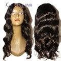 Onda del cuerpo peruano u parte pelucas del pelo humano 1x4 medio u piezas de pelo Peruano virginal de la onda del cuerpo de beyonce pelucas hechas a máquina para reina