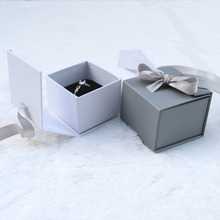 Mini Paper Ribbon Added Jewelry Box