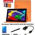 Для Lenovo TAB 2 A10-70 A10-70F A10-70LC планшет пк покоя чехол 10.1 '' защитный кожаный чехол защитной оболочки / кожи