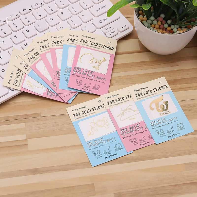 Per il Telefono Mobile di Modo Coreano Stelle Tazza Adesivi FAI DA TE Autografo Anti-radiation Sticker