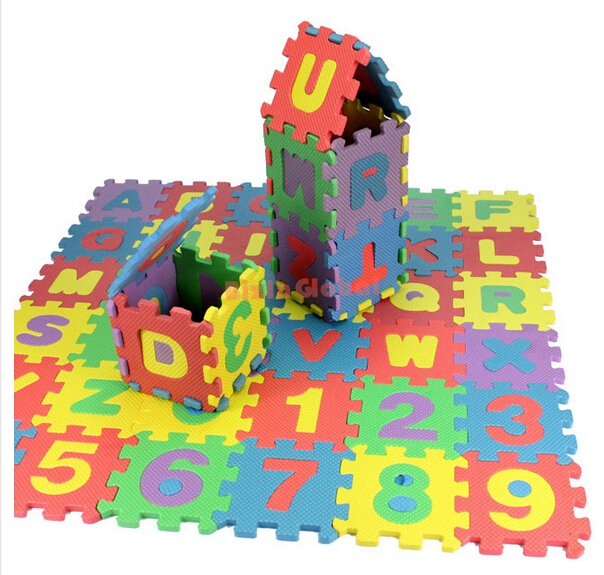 1 set 36 pieces kids toy foam puzzle small letters numbers 36 piece