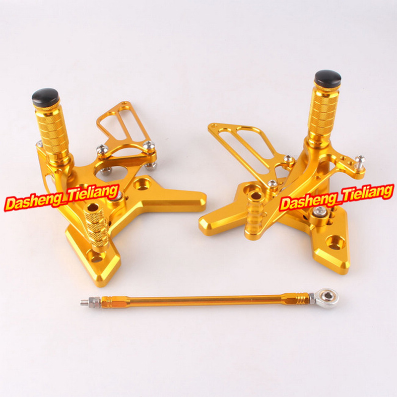 Adjustable Foot Pegs Rear Set Footrests Replacement Kit For Kawasaki Z750 2004 2005 2006 Motorcycle Accessory PartsAdjustable Foot Pegs Rear Set Footrests Replacement Kit For Kawasaki Z750 2004 2005 2006 Motorcycle Accessory Parts