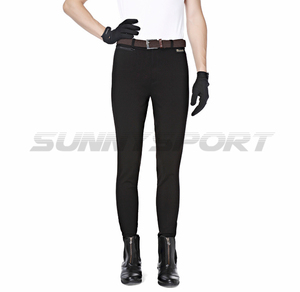 Image 2 - Riding breeches knitted nylon cotton high elastic male Knight pants