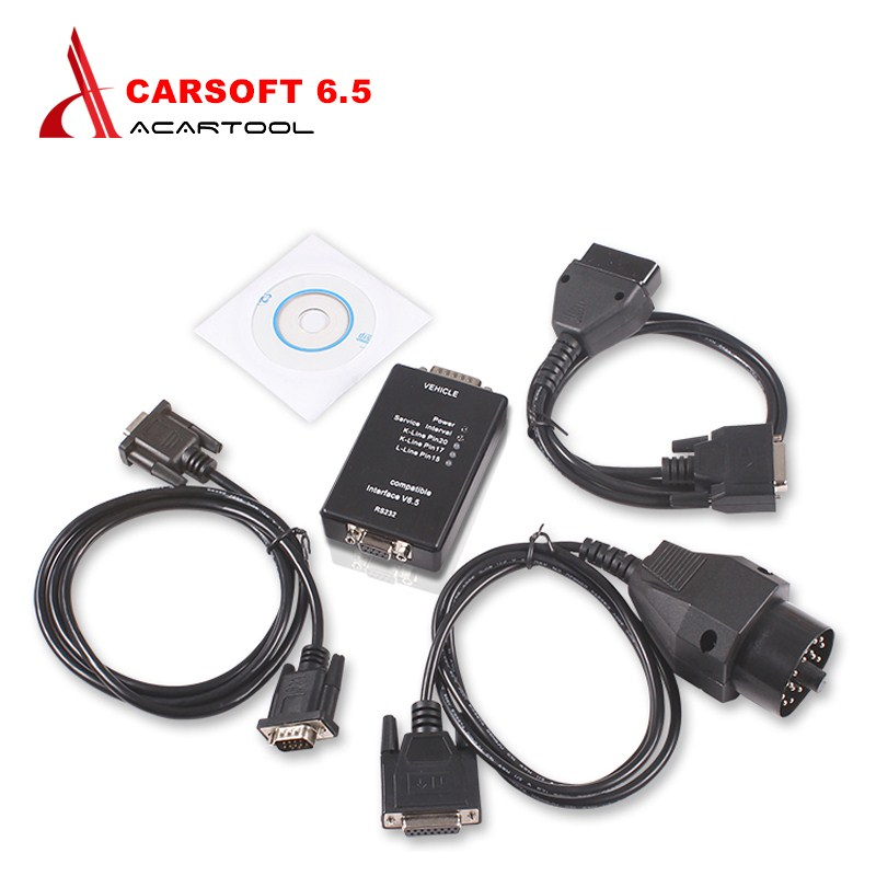 Home Auto Carsoft 6.5 Ecu Programmer/mcu Obd2 Car Diagnostic Tools For Bmw E30/e36/e46/e34/e39/e53/e32 With Rs232 Pc Interface Elegant In Style