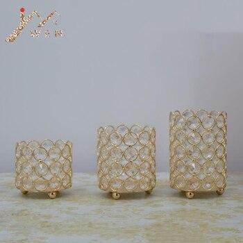 크리스탈 캔들 홀더 실버/골드 촛대 촛불 랜턴 웨딩 centerpieces 테이블 candelabra 홈 파티 장식