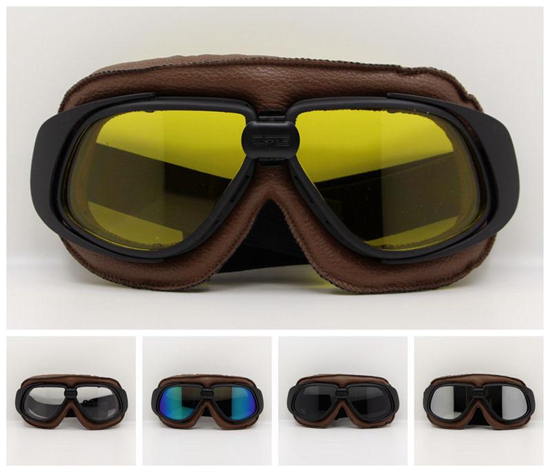 Motorcross Sunglasses Vintage Motorcycle Helmet Goggles Scooter Glasses Aviator Pilot Cruiser Steampunk Multicolor все цены