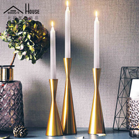 Nordic postmodern room decorated hotel club metal candlestick soft outfit candle holders sitting room furnishing articles