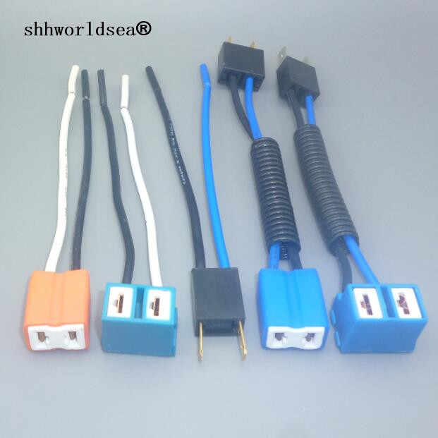 Shhworldsea H7 2 Pin H2 Koplamp Vervanging Reparatie Bulb Houder Connector Plug Wire Socket