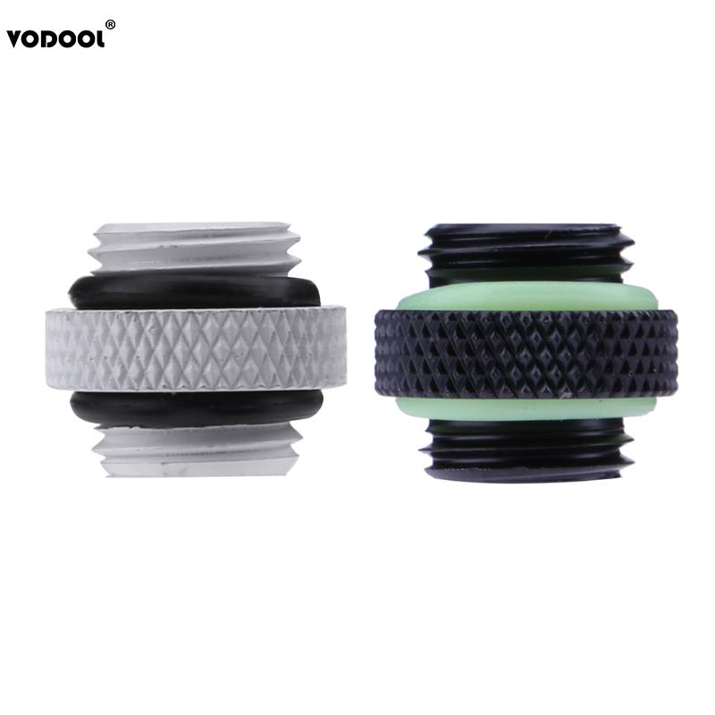 PC Computer Water Cooling Accessories G1/4 Dual External Thread Hose Connector For PC Water Cooling Cooler System Black White