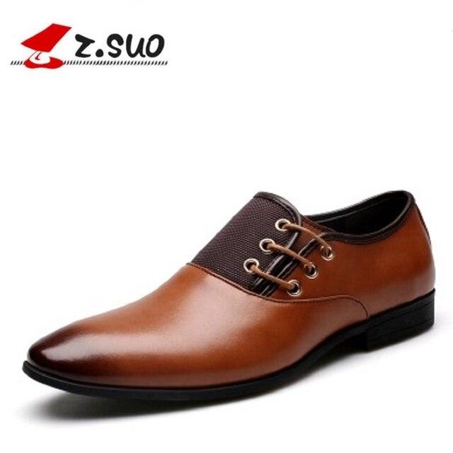 Z.suo Big Size 6-13 New Fashion Men Wedding Dress Shoes Black Shoes Round  Toe Flat Business British Lace-up Men s shoes e59d4014a9b7