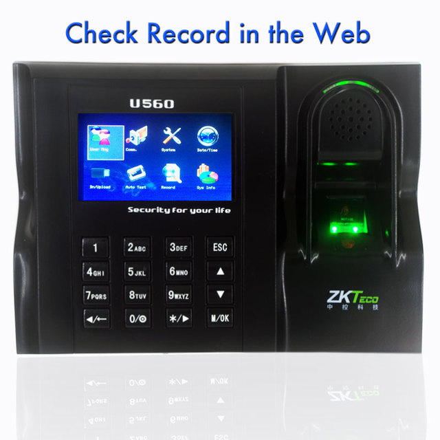 US $103 55 5% OFF|Web Time Attendance Real Time Software Web IE Server  Browse Records ZKTeco U560 Linux System ZK Employee Time Attendance-in  Electric