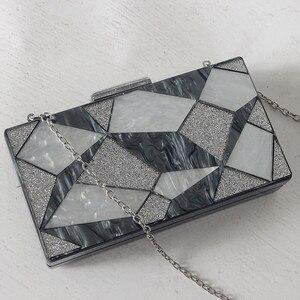 Image 5 - 新ファッション女性ブランド高級黒銀イブニングバッグパーティーウエディング結婚式のハンドバッグヴィンテージカジュアルな女性ボックスクラッチ財布
