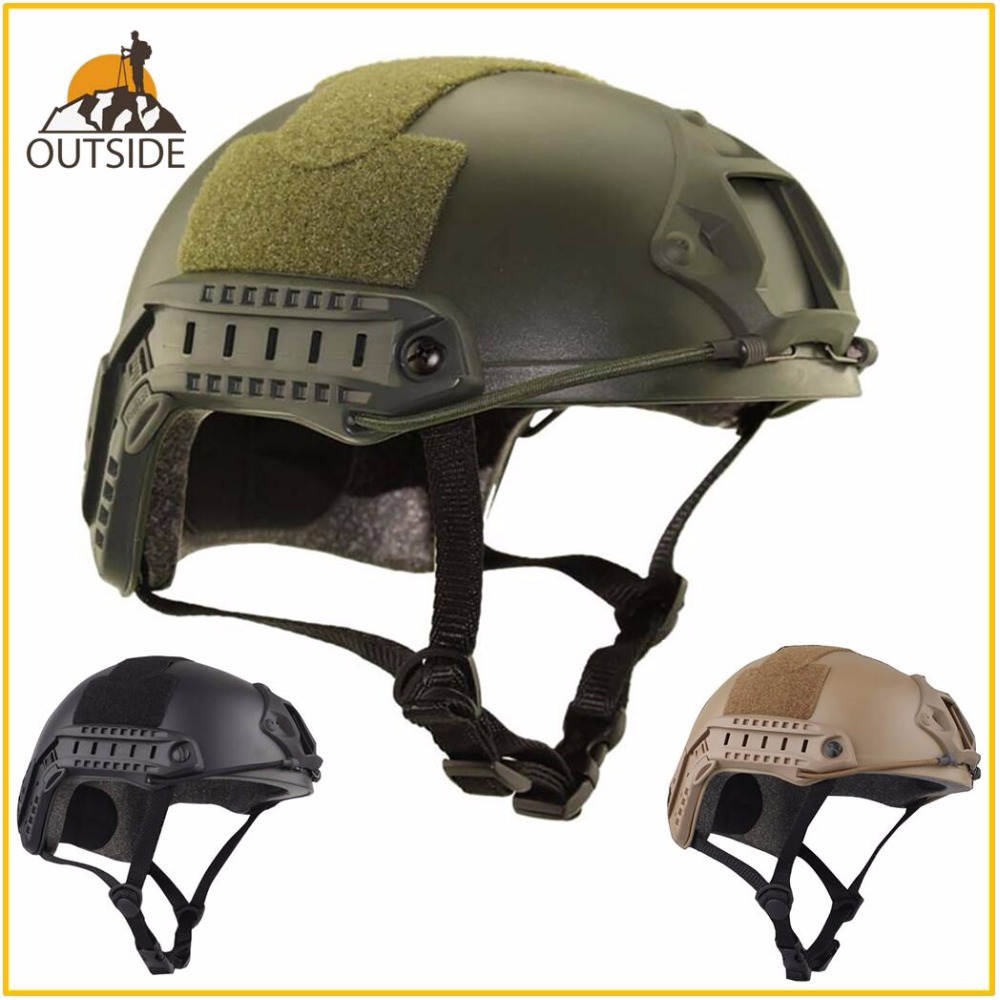 High Quality Protective Paintball Wargame Helmet Army Airsoft MH Tactical FAST Helmet With Protective Goggle Lightweight(China)