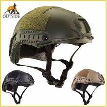 Высококачественный защитный шлем для пейнтбола и военных игр, армейский шлем для страйкбола MH, Тактический Быстрый Шлем с защитными очками, легкий