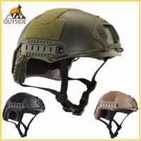 Casque de protection de haute qualité Paintball Wargame armée Airsoft MH casque tactique rapide avec masque de protection léger
