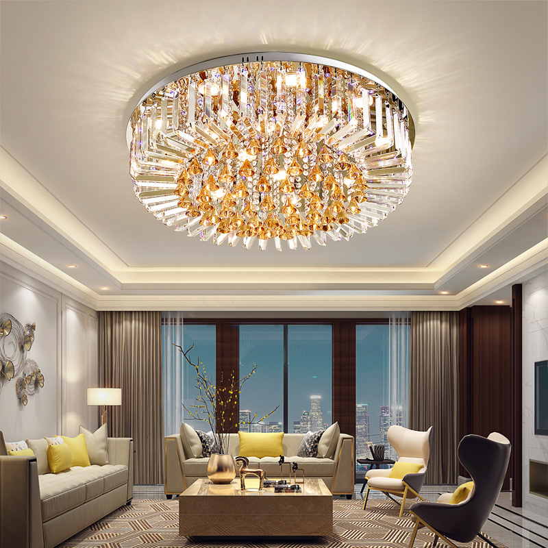 HA CONDOTTO LA Luce di Soffitto K9 di Cristallo Moderna Lampada A Soffitto Per La Casa Apparecchio di Illuminazione Dell'interno Caldo/Neutro/Freddo Bianco 3 Colori dimmerabile