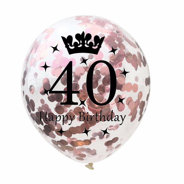 Birthday Latex Confetti Balloons Set