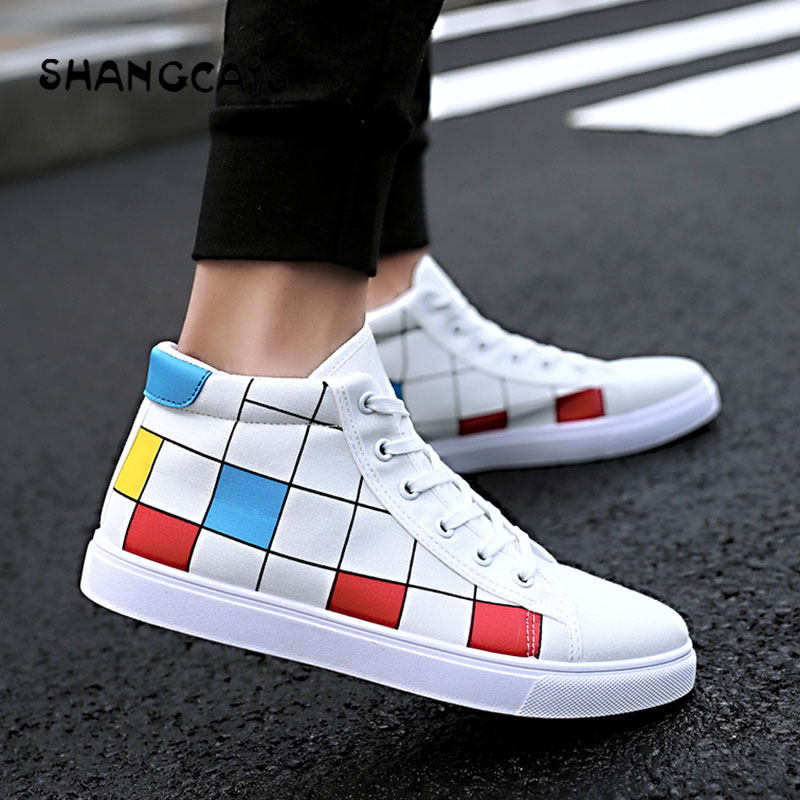 men winter shoes high top Sneakers men fashion plaid mens shoes black white red footwear male vulcanize shoes platform shoes men winter shoes high top sneakers men fashion plaid mens shoes black white red footwear male vulcanize shoes platform shoes