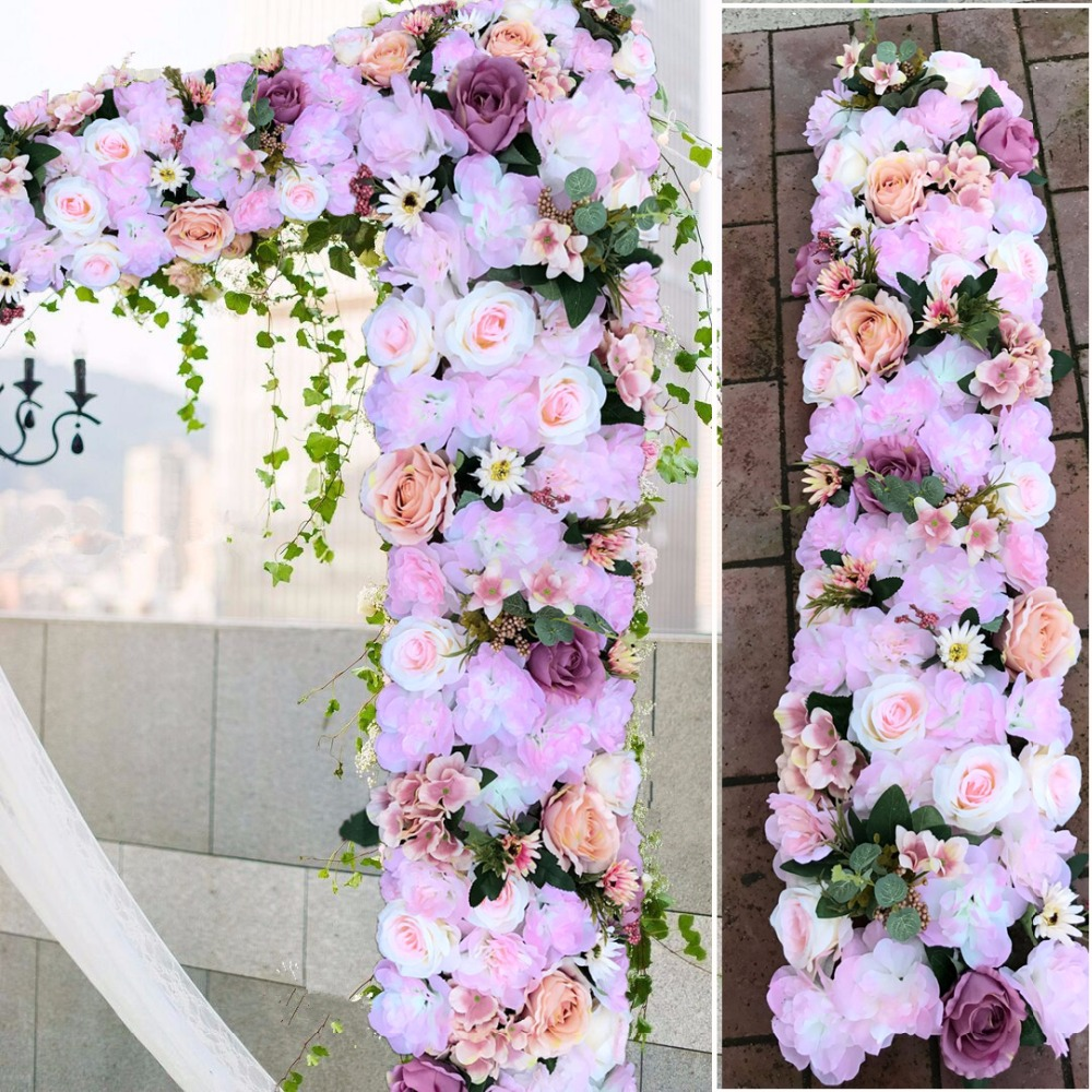 Decoration Flowers For Wedding: Lilac Wedding Pavillion Flowers Strips Light Purple Square
