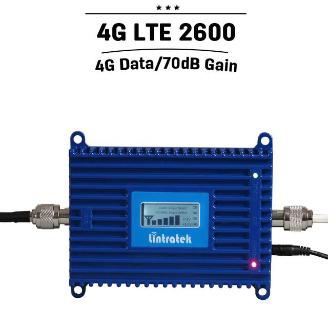 4g LTE Repetidor 4g LTE Banda 2600 7 Repetidor Celular Signal Booster 70dB Celular Móvel de Controle de Nível Automático amplificador