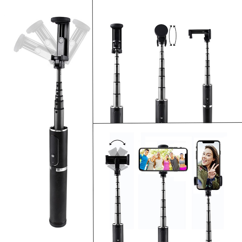 Image 3 - SAMTIAN 3 in 1 Wireless Bluetooth Selfie Stick Tripod Fold Handheld Monopod 360 Rotation Phone Stand For Mobile Photo Smartphone-in Selfie Sticks from Consumer Electronics