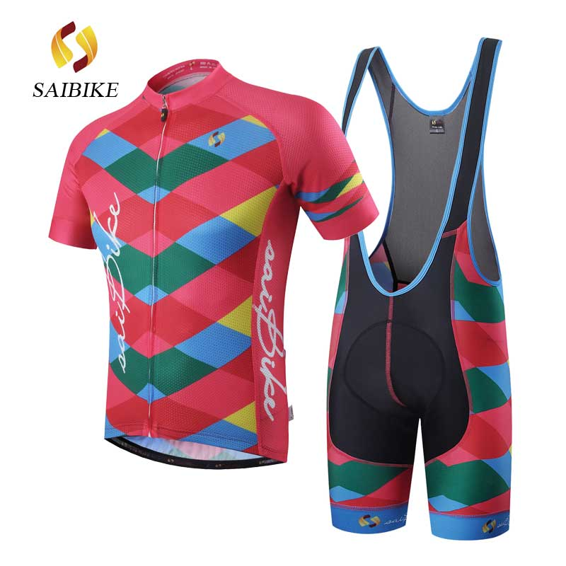 saiBike cycling clothing 2018 fietskleding wielrennen zomer heren ropa ciclismo mujer set pro team men summer short jerseys