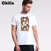 Chilin Tick Or Trick T Shirt Mens Halloween White T Shirt Male Design Funny Printed 100