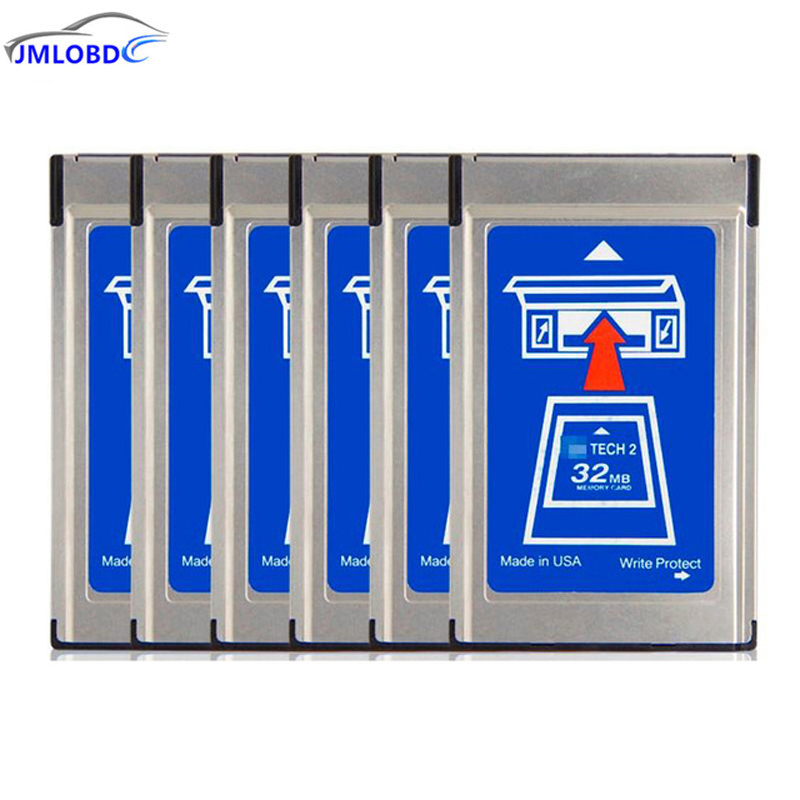 цена на For GM Tech2 Card With 6 Software 32MB Card For GM Tech2 Diagnostic Tool for GM Tech2 32MB Memory Card Free Shipping
