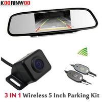 Genuine KOORINWOO 2017 Wireless Waterproof IP68 Car Rear View Camera Reversing Cam For car 5'' Monitor Mirror Video Input RCA