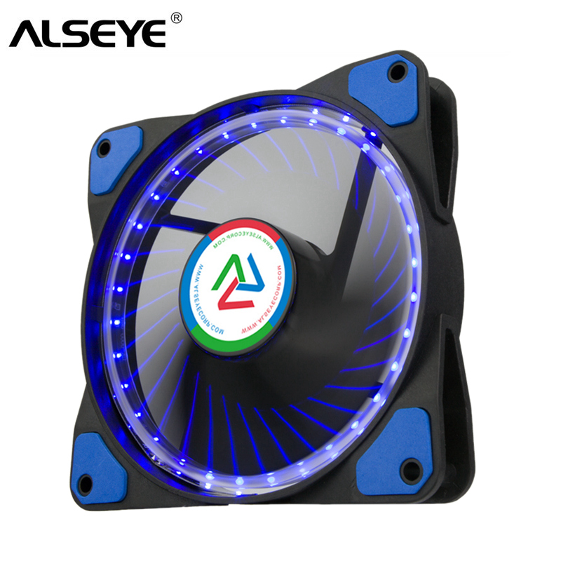 ALSEYE 120mm Computer Fan 12v 3 pin LED PC Case Cooling Fan Cooler 1100RPM free delivery original afb1212she 12v 1 60a 12cm 12038 3 wire cooling fan r00
