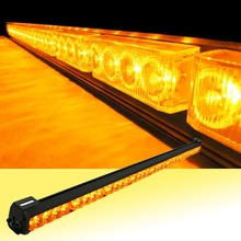 35″ 12V Super Bright 32 LED Yellow/White Car Auto Light Fireman Flashing Police Emergency Warning Strobe Light