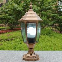 IP65 bronze antique brass landscape wall light vintage classical outdoor waterproof wall sconce fencing bollard pillar lamp