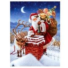 Diy 3D diamant-malerei Weihnachtsmann geschenk kreuzstich kits platz bohrer voll laid diamant stickerei Weihnachten home decor