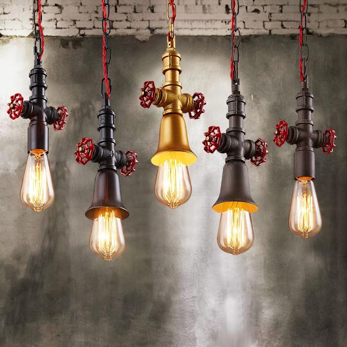 где купить Industrial Pendant Light Fixture Waterpipe Lamp American Vintage Hanging Lights Restaurant Cafes Droplight Home Indoor Lighting по лучшей цене