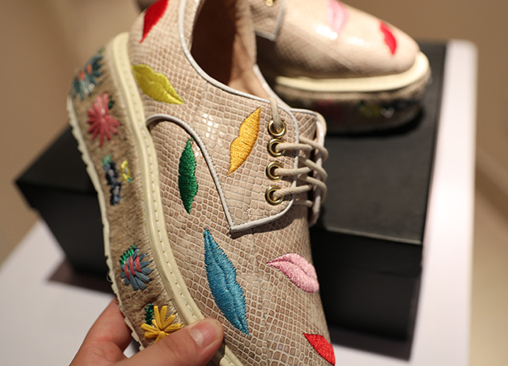 Broder Sapato En Plate Mujer Feminino Serpent 2018 as Pic Femme Cuir De Zapatos As Appartements Pic forme Peau Occasionnels Motif Chaussures 767rwqI