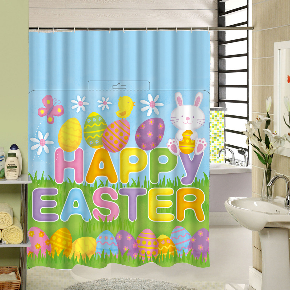 hot cute carton high quality shower curtain polyester ecofriendly waterproof mildewproof home bathing products