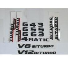 цена на 3D Matt Black Trunk Letters Badge Emblem Emblems Badges Sticker for Mercedes Benz G43 G55 G63 G65 V8 V12 BITURBO AMG 4MATIC