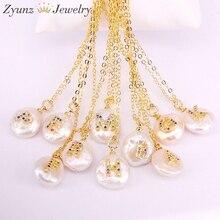 10 pièces, micro pendentif en cz arc en ciel, lettre pavée, pièce de charme, en perles deau douce