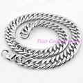 Durable 18mm Wide Heavy Huge Large Big Men Silver Stainless Steel Necklace Chunky Link Chain 7-40 Inch Free shipping