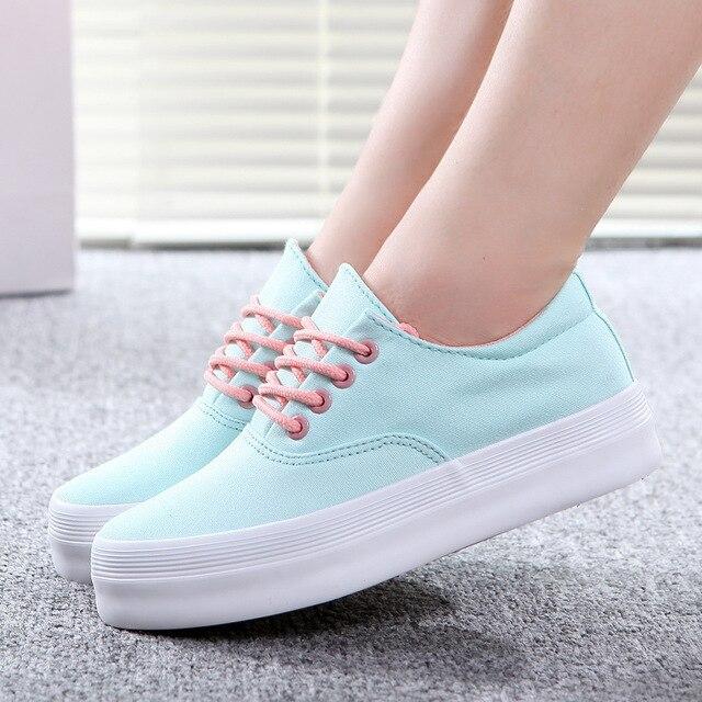 8e794c1b46b8e Canvas shoes woman 2016 zapatos mujer fashion Trifle casual shoes women  platform women shoes