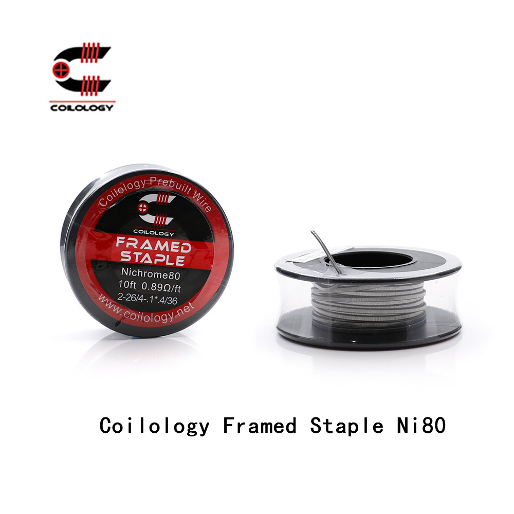 Coilology Framed Staple Ni80 High Density Wrap Wire for EGO Coils Pre-made For Electronic Cigarette Temp Control DIY Tools