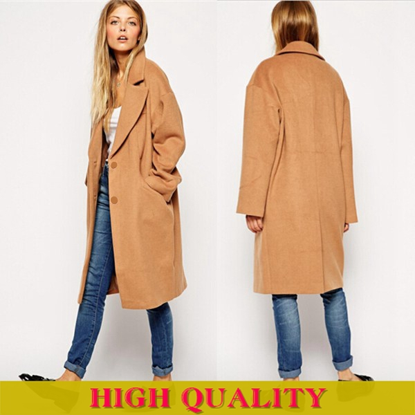 Online Shop 2014 Winter Coat Women New Cocoon Style Full Sleeve ...