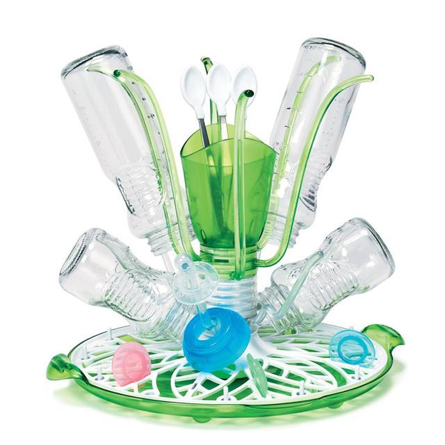 El nuevo bebé biberón tendedero estilo de la flor pezón soporte máximo 12 botellas y accesorios